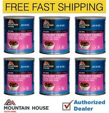 New 1 Case of 6 Cans Mountain House Raspberry Crumble Freeze Dried Food Supply