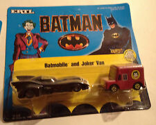 JOKER Van & BATMOBILE BATMAN 1989 ERTL pressofusione FIGURE STATUINE IN METALLO