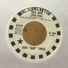 Dave Baby Cortez Hula Hoop(Shoop Shoop) Come Back(To Lonely Me) Promo 45