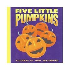Five Little Pumpkins Halloween Board Book for toddlers by Yaccarino NEW