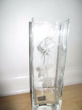"MIKASA ENDLESS LOVE 12"" GLASS VASE MADE IN POLAND EXCELLENT CONDITION*"