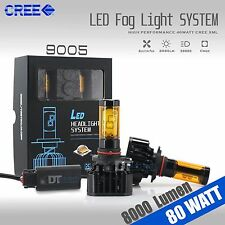 2016 80W 8000LM CREE LED Fog Light Kit Bulbs 3000K Yellow High Power 9145 H10