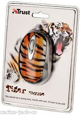 NEW TRUST 16967 UNIQUE WILDLIFE TIGER OPTICAL USB MINI MOUSE