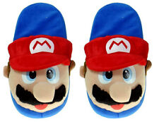 "Nintendo Super Mario Brothers Bros 11"" Red Mario Adult Soft Plush Slippers"
