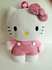 PLUSH glittery Hello Kitty Toddller girls backpack doll shaped carry purse bag