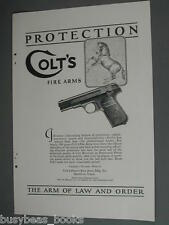 1924 COLT Firearms advertisement, Automatic pistol, handgun Colt's Fire Arms