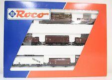 Spur HO Roco 44002 Güterwagen Set der DB OVP (318)