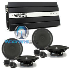 "pkg SAX100.4V2 4-CHANNEL AMPLIFIER + (2) SETS IS165 6.5"" COMPONENT SPEAKERS NEW"