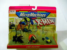 Micro Machines X-Men Blackbird Helecarrier Wolverine 4x4 Tracker galoob 1993 MOC