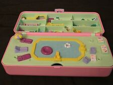 Vintage Polly Pocket Bluebird 1989 Large Hotel Swimming Pool Party Play Set Case