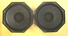 2 Stk NOS PHILIPS AD8066/WA wideband speaker  40W 8Ohm 8inch 90dB mint condition