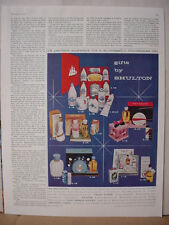 1956 Old Spice Men's Toiletry After Shave Lotion Gift Set Vintage Print Ad 10640