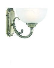 Wandleuchte Glas Messing Wandlampe Zugschalter Lampe 1x40W E14 LED Kompatibel
