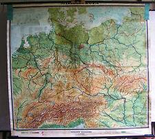 Schulwandkarte Wandkarte Schulkarte Alte Europa Mitteleuropa Deutschland 190x176