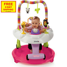 NEW Kolcraft Baby Sit & Step 2-in-1 Activity Center Pink Bear Hugs 4 Months & Up
