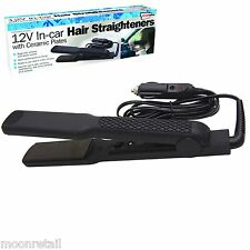 In Car 12V Hair Straighteners Ceramic Plates Travel Caravan Camping Festival
