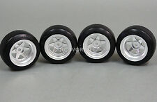 Yokomo 1/10 RC Car WHEELS RIMS 6 -SPOKE  Type-C  12MM Offset w/ Drift Tires 4pc