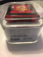 Apple iPod nano 6th Generation Red (8GB) - New with white leather watch band