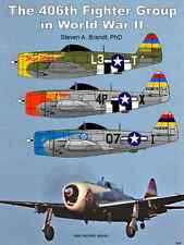 New! 406th Fighter Group in WW II SoftBound 168 prev unpublished old P-47 photos