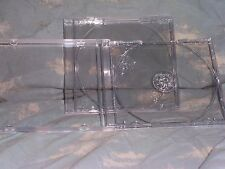 Standard CD Jewel Case with Clear Removable Tray 4-pack NEW