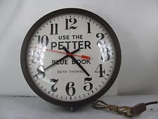 Vintage Seth Thomas Manager 13 Electric Clock Petter Blue Book Works Great