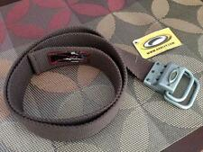 New, Rare and Classic Oakley Webbed Belt!  S/M Brown DISCONTINUED & SOLD-OUT!