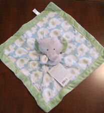 New NWT Carter Blue Green Gray Elephant Lovey Security Cuddle Blanket