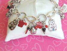 Brighton Bracelet Palmer Luckybug ladybug Red Blacks Charms NEW RARE LAST ONE