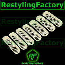 07-16 Jeep JK Wrangler Non-Paint Trim 7pcs Grille Cover Insert Mesh Grill Shell