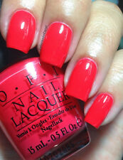 NEW! OPI NAIL POLISH Nail Lacquer in CAJUN SHRIMP ~ CORAL RED