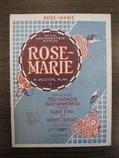 Rose-Marie Sheet Music Vintage 1924 Oscar Hammerstein 2nd Voice Piano Guitar (O)