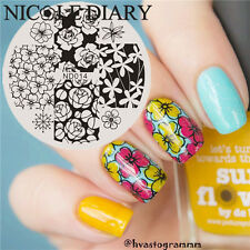 Nail Art Stamp Image Plates Stencil Manicure Template Beautiful Flower Design