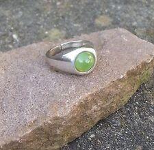Ring antik mit Chrisolith  Silber 925 Silberring massiv Größe verstellbar