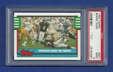 1990 TOPPS #501 CHICAGO BEARS TEAM PSA 9 MINT POP 3 NONE HIGHER JIM HARBAUGH