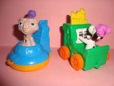 1994 McDonald's HAPPY BIRTHDAY Happy Meal Toys #4 E.T. & #12 Peanuts Snoopy