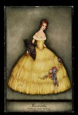 Glamour Dress Fashion  Isabella Tuck Oilette #3801 artist Jennie Harbour PPC
