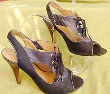 COSMO sandales Ghillies lacets talon cuir poulain marine 40 parfait état
