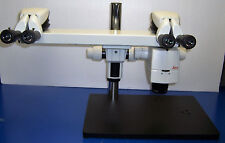 9381 LEICA M125 TRAINING MICROSCOPE DUAL HEAD ZOOM .8-10X W/ 16X/15 EYE PIECES &