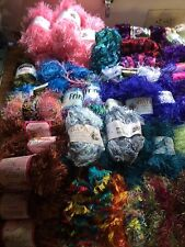 Large lot (6+ lbs) of Novelty Yarn:  Boa, Fancy Fur, Eyelash, Flapper, Fringe