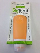 Go Toob Orange 2 Oz Carry On Travel Tube with Suction Cup Packaging Damaged RRR