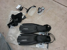 AVANTIX-3 MENS  SMALL diving fins+Diving Glasses+8/9 SZ Shoes+IKELITE PCA light