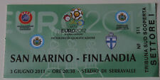old TICKET EURO 2012 q * San Marino - Finland in Serravalle