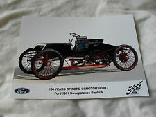 8 x 6 MOTORSPORT PRESS PHOTO - 100 YEARS OF FORD - 1901 SWEEPSTAKES REPLICA