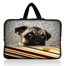 "Pug Design For 15"" 15.4"" 15.6"" Laptop Sleeve Bag Carry Case Pouch Cover w/Handle"