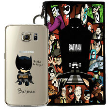 BATMAN JELLY CLEAR CASE FOR SAMSUNG GALAXY S7 EDGE + POUCH