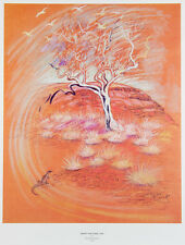 Elizabeth DURACK  'Spinifex with Snappy Gum' - from Pilbara landscapes' print