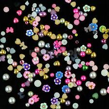 1 Rueda 1200 Pegatinas Multicolor Diferentes Formas Decoración Uñas Manicura