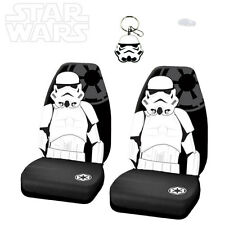 STAR WARS STORMTROOPER 3PC CAR SEAT COVER WITH KEYCHAIN SET FOR NISSAN