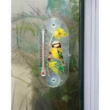 Bird Design Window Thermometer Suction Cups Garden Outdoor Temperature Degrees