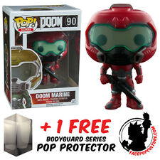 FUNKO POP DOOM MARINE ELITE MARINE VINYL FIGURE + FREE POP PROTECTOR